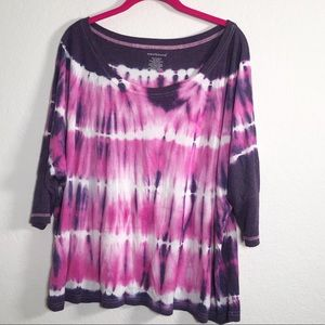 westbound size large tye dye shirt with dolman slv